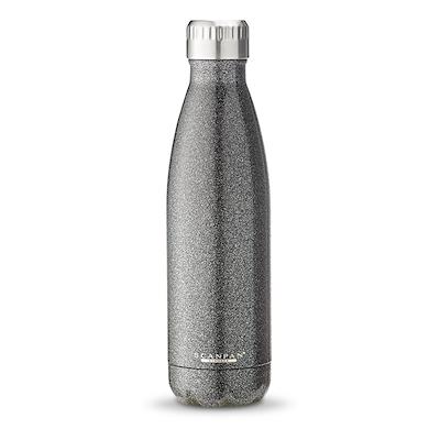 Scanpan drikkeflaske 500 ml sort glitter