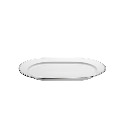 Pillivuyt hvid/sølv serveringsfad ovalt 36 cm