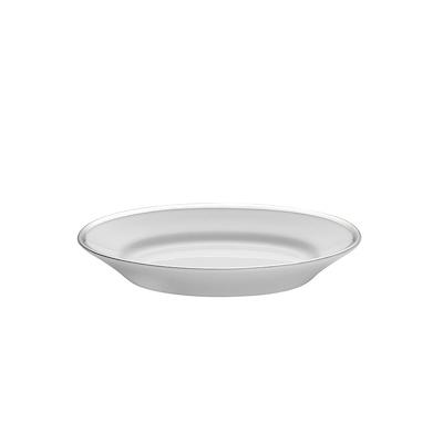 Pillivuyt hvid/sølv underskål til sovsekande
