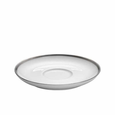 Pillivuyt Cecil hvid/sølv underkop