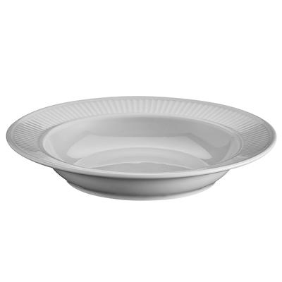 Pillivuyt Plissé grå dyb tallerken 22 cm