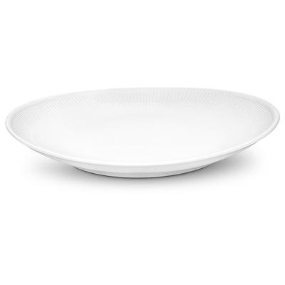 Pillivuyt Plisse oval steaktallerken stor 29,5 cm