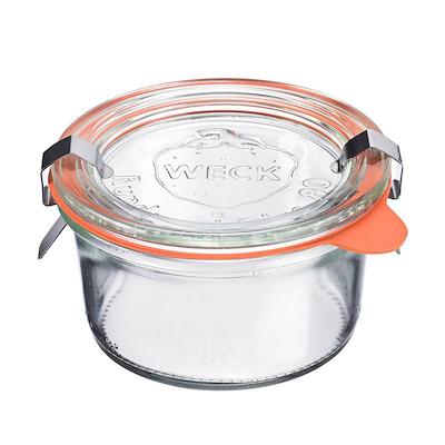 Weck opbevaringsglas 165 ml. 6 stk