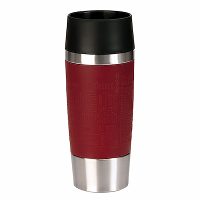 Emsa termokrus 0,36 liter rød manchet