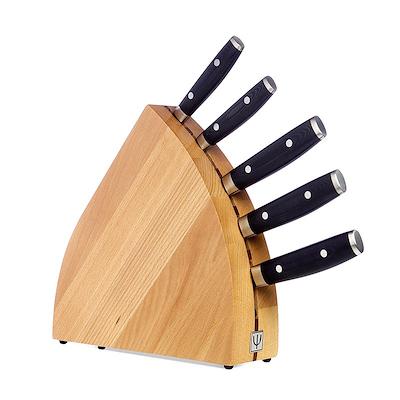 Yaxell Ran knivsæt med blok og 5 knive