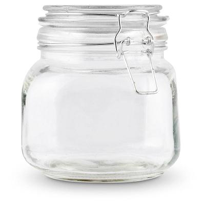 Henkogningsglas firkantet 0,75 liter