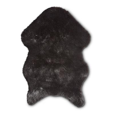 Imiteret skind fake mink mørk grå 60x90 cm