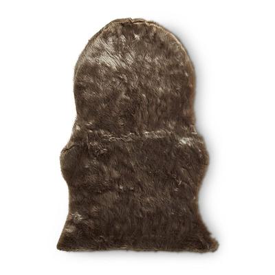 Imiteret skind fake mink sand 60x90 cm