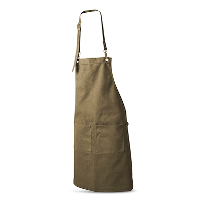 Dacore forklæde i kanvas med 2 lommer brun