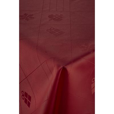 Nordisk Tekstil dug Julefred rød 140x270 cm