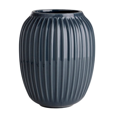 Hammershøi vase 20 cm antracitgrå