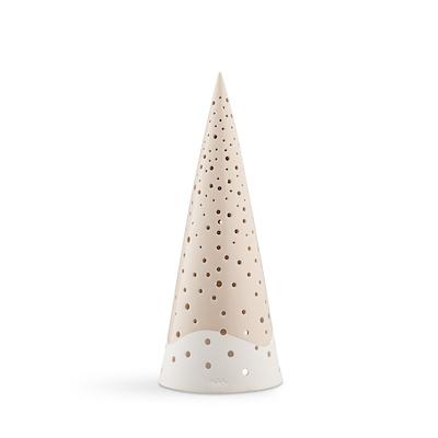 Kähler Nobili fyrfadsstage juletræ nude 30 cm