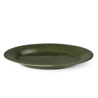 Hammershøi ovalt fad grøn 28,5 cm