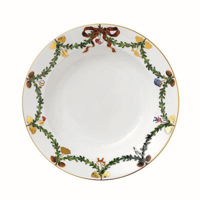 Royal Copenhagen Stjerne Riflet jul dyb tallerken 24 cm