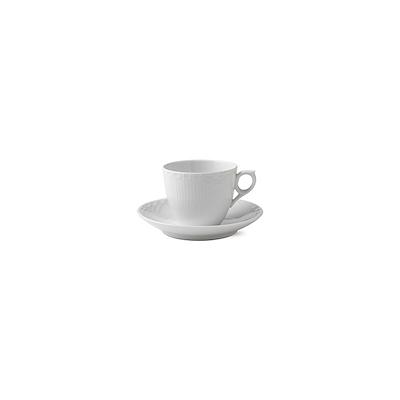 Royal Copenhagen Halvblonde kop og underkop 17 cl hvid