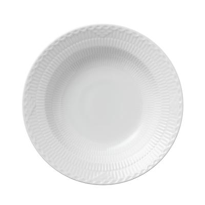 Royal Copenhagen Hvid halvblonde dyb tallerken 21 cm