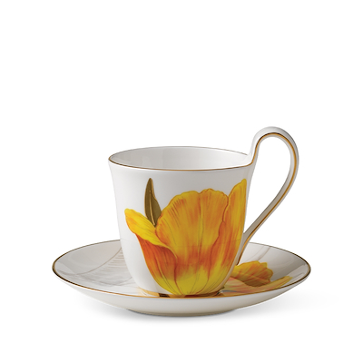 Royal Copenhagen Flora højhankskop og underkop tulipan 27 cl