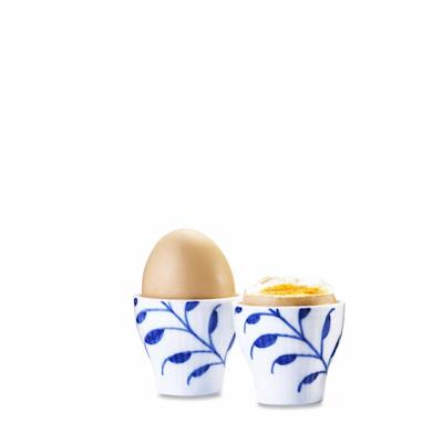 Royal Copenhagen Blå Mega Riflet æggebæger 2 stk