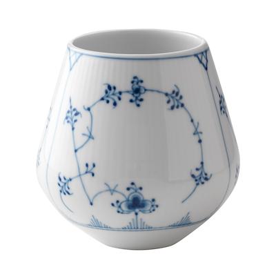 Royal Copenhagen Musselmalet Riflet vase lille, 12 cm