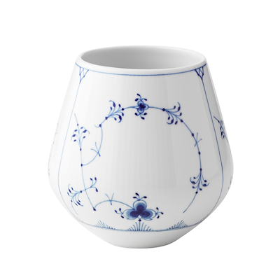 Royal Copenhagen Musselmalet Riflet vase 15 cm