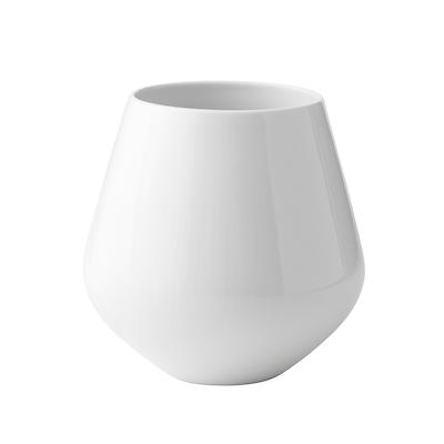 Royal Copenhagen hvid riflet vase 20,5 cm