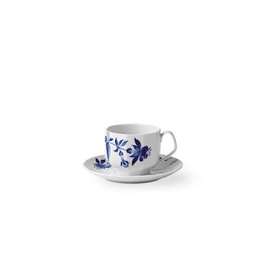 Royal Copenhagen Blomst kop med underkop Fuchsia 22 cl