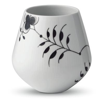 Royal Copenhagen Sort Mega Riflet vase 15 cm