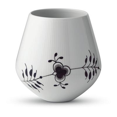 Royal Copenhagen Sort Mega Riflet vase 20,5 cm