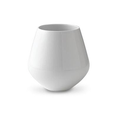 Royal Copenhagen Hvid Riflet vase 12 cm