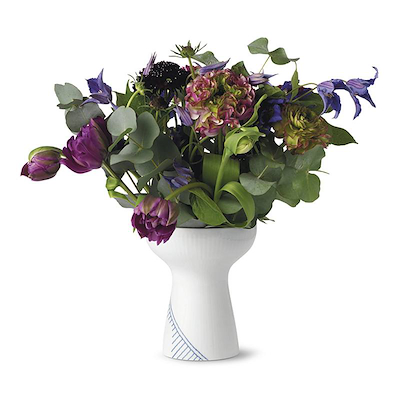 Royal Copenhagen Blå Mega Riflet vase 15 cm