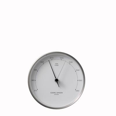 Georg Jensen Henning Koppel barometer stål/ hvid 10cm
