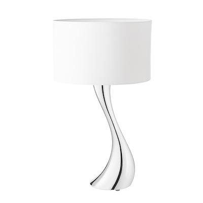 Georg Jensen Cobra lampe mellem hvid skærm