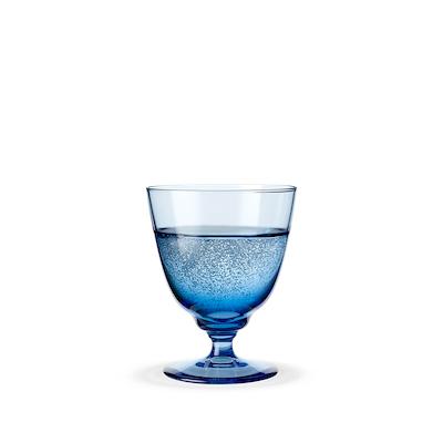 Holmegaard Flow vandglas på fod 35 cl blå