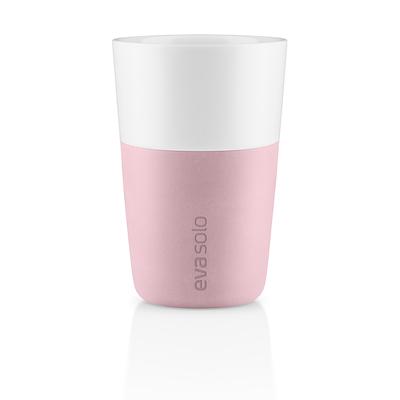 Eva Solo cafe latte krus rose quartz 2 stk. 36 cl