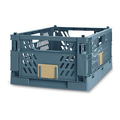 Foldbar kasse 50x33x20 cm blå