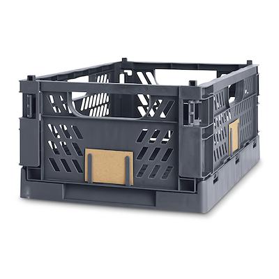 Foldbar kasse 50x33x20 cm mørk grå