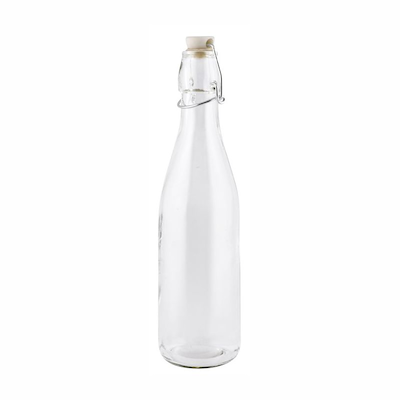 Saftflaske i glas med patentprop 1 ltr