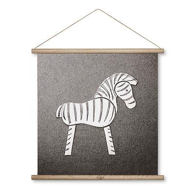 Kay Bojesen zebra stregtegning 40x40 cm
