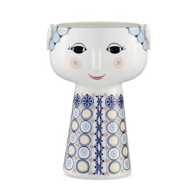 Bjørn Wiinblad Eva vase blå 18,5 cm