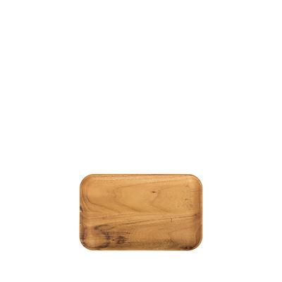Aida RAW rekatangulær tallerken teak 23,7x14,9 cm