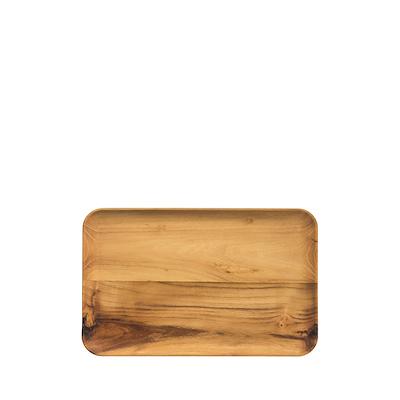 Aida RAW rektangulær tallerken teak 31,7x20,2 cm