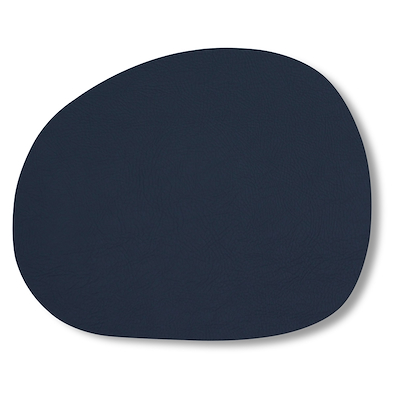 Aida RAW dækkeserviet recycled læder mørk blå