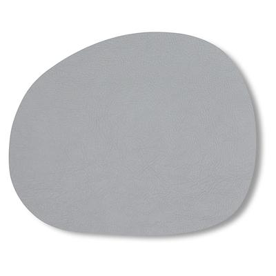 Aida RAW dækkeserviet recycled læder lys grå