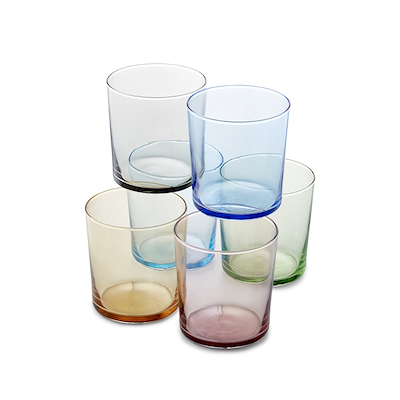 Aida farvet vandglas 6 stk