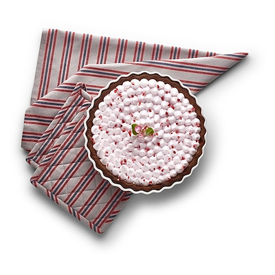 Pillivuyt rund tærteform 27,5 cm inkl 2 grydelapper og 1 viskestykke