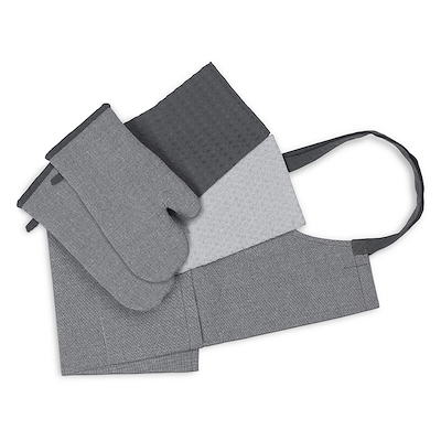 Bastian Tekstilsæt recycle 5 dele grå