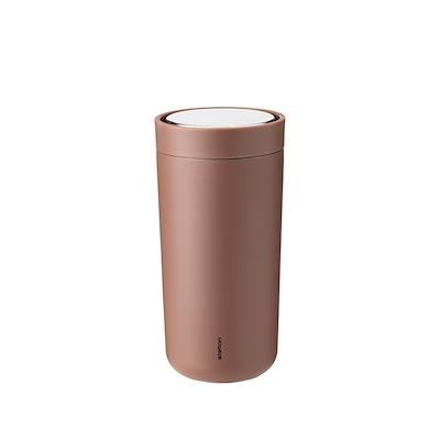 Stelton to go click termokop, 0,4 l. soft rust