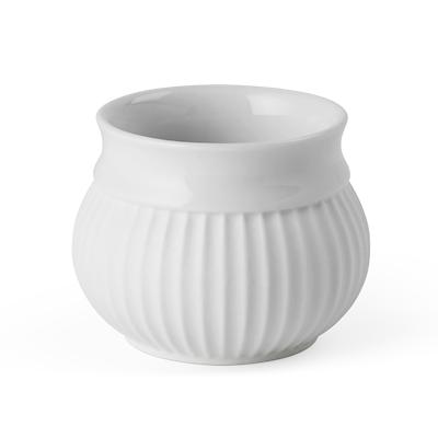 Lyngby Porcelæn curve fyrfadsstage 6,5cm hvid
