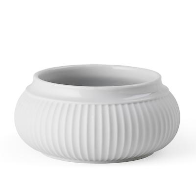 Lyngby Porcelæn curve bloklysestage 11 cm hvid