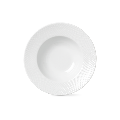 Lyngby Porcelæn Rhombe dyb tallerken 24,5 cm